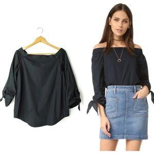 Free People black off-shoulder blouse top